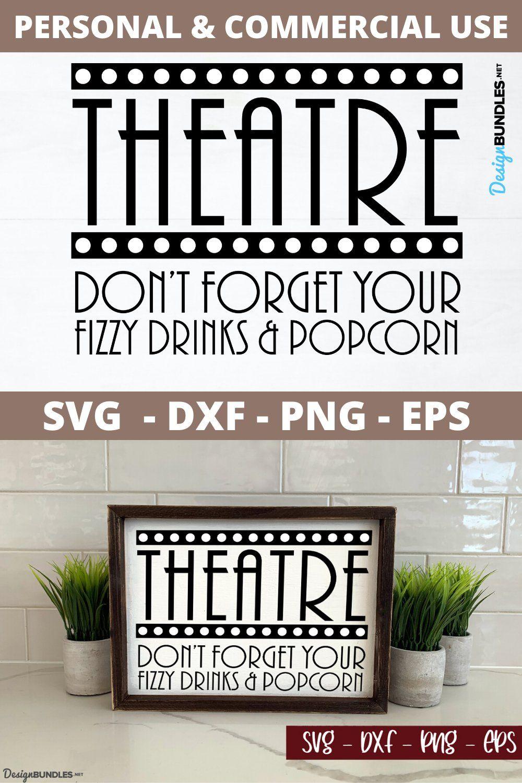 Theatre Home Decor Sign English SVG File in 2020