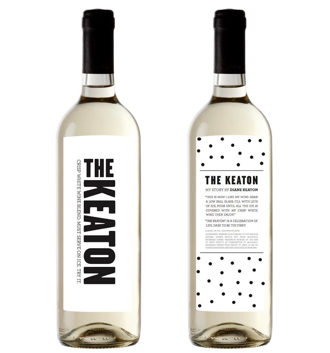 Diane Keaton Loves Putting Ice In Her Red Wine So Much That She Developed Her Own Bottled Wine Line The Keaton In 2015 Now She Wine Unique Wines Wine Bottle