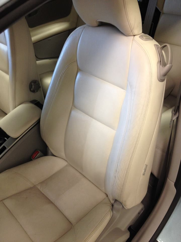 how to clean leather seats with holes