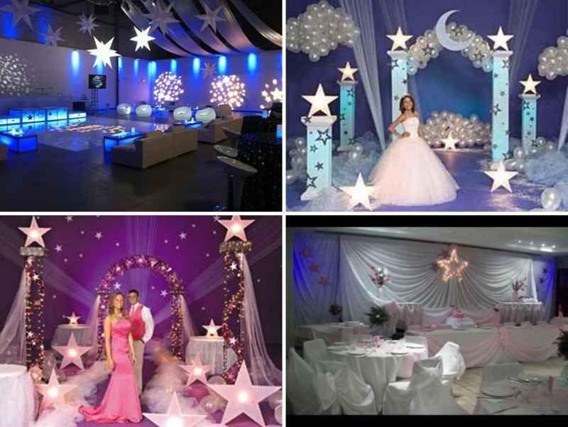 Salon de fiesta con estrellas para 15 a os 4 tile 15 for Ambientacion decoracion 15 anos