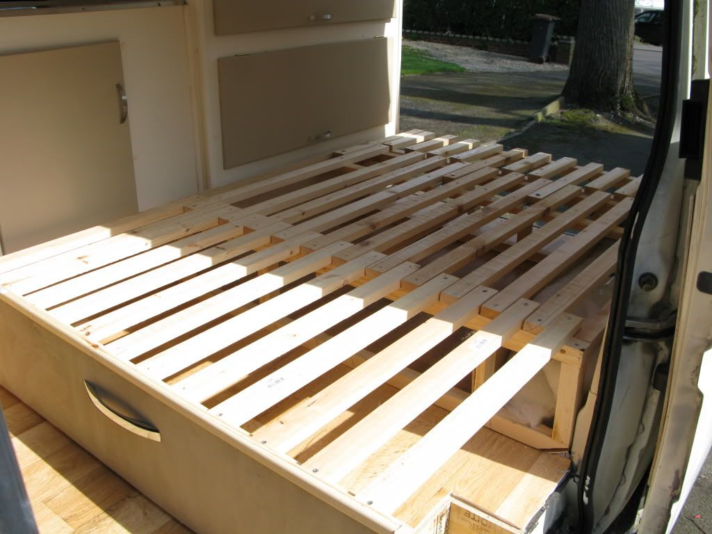 Van Pull Out Storage Bed