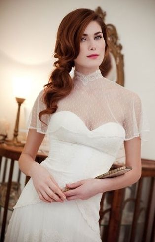 vintage inspired gown by Flora