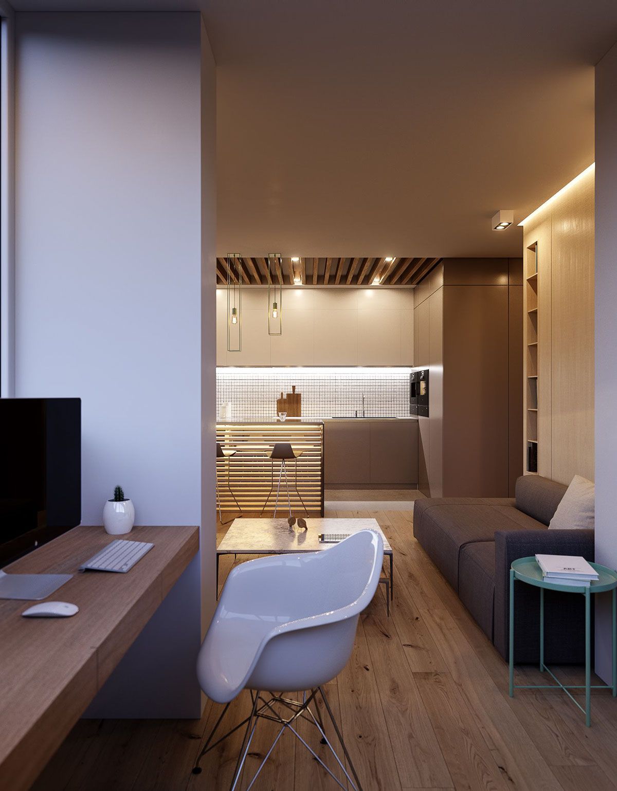 Modern Minimalist Apartment Designs Under 75 Square Meters ...