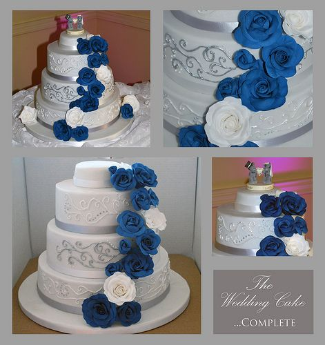 blue and silver wedding cakes silver and blue wedding cake says change the roses 11961