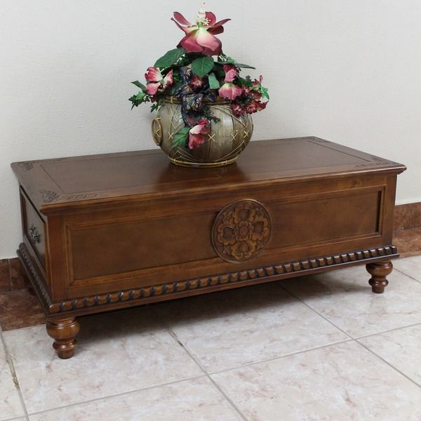 International Caravan Windsor Carved Wood Two-drawer Coffee Table | Overstock.com Shopping - The Best Deals on Coffee, Sofa & End Tables