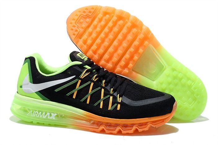 on sale 152ab a8370 nouveau nike air max 2015 argenté chaussures hommes noir vert orange