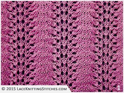 Lace Knitting Stitches | Knitting lace patterns | Pinterest ...