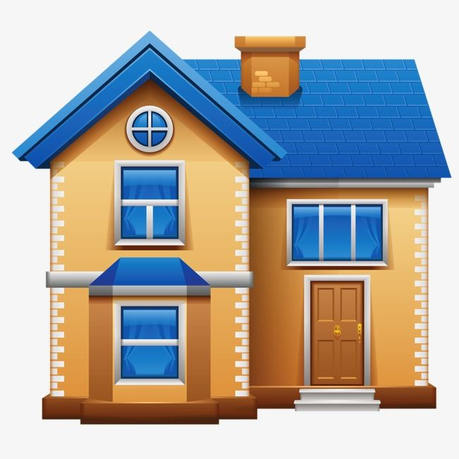 English Village Apartments: Cartoon House, Home Icon, House Design