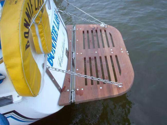 Swim platform. Maybe we could make a swivel swim ladder on ...