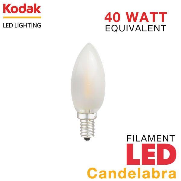 Led E12 Frosted Filament Candelabra Light Bulb Earthled Com