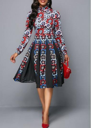 NEW Fashion Women/'s Long Sleeves Printed Turn Down Collar Casaul Coat Dress Club