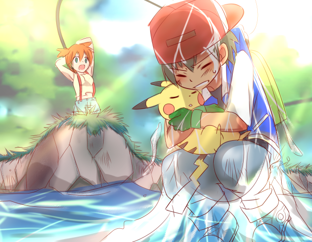 OMFG!!!! ONE OF THE BEST FUCKING POKESHIPPING FAN ART I'VE SEEN IN MY WHOLE ENTIRE 16 YEARS OF LIVING!! NO LIE!  ( source:ねこ )