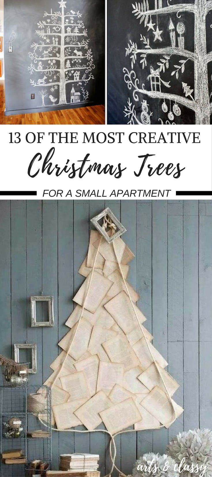13 Creative ways to build a Christmas tree in small apartments   Arts and Classy