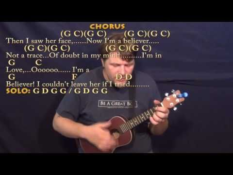 Im A Believer The Monkees Ukulele Cover Lesson With Chordslyrics