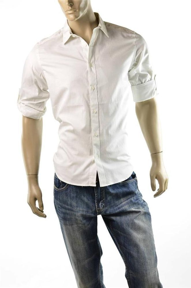 Calvin Klein Shirt Mens Slim Fit Button Down Ck Size Xl
