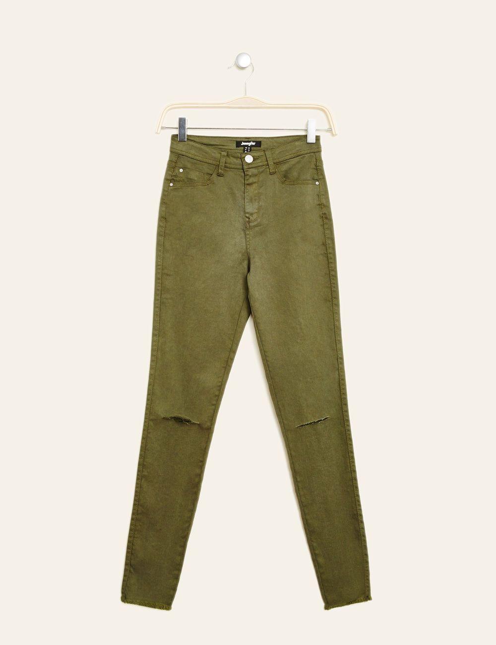 1e8603c7e18ce Pantalon skinny taille haute bleu ciel femme • Jennyfer   pantalon ...