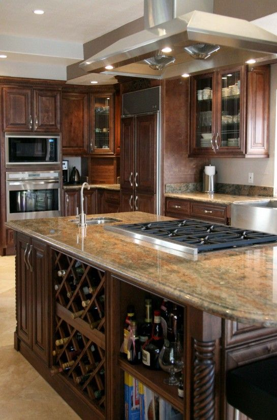Best Of Cherry Kitchen Cabinets with Granite Countertops