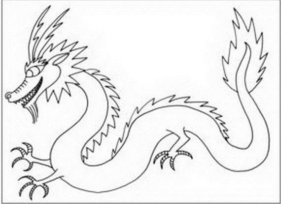 Chinese Dragon Boat Festival Coloring Pages Chinese Dragon Art