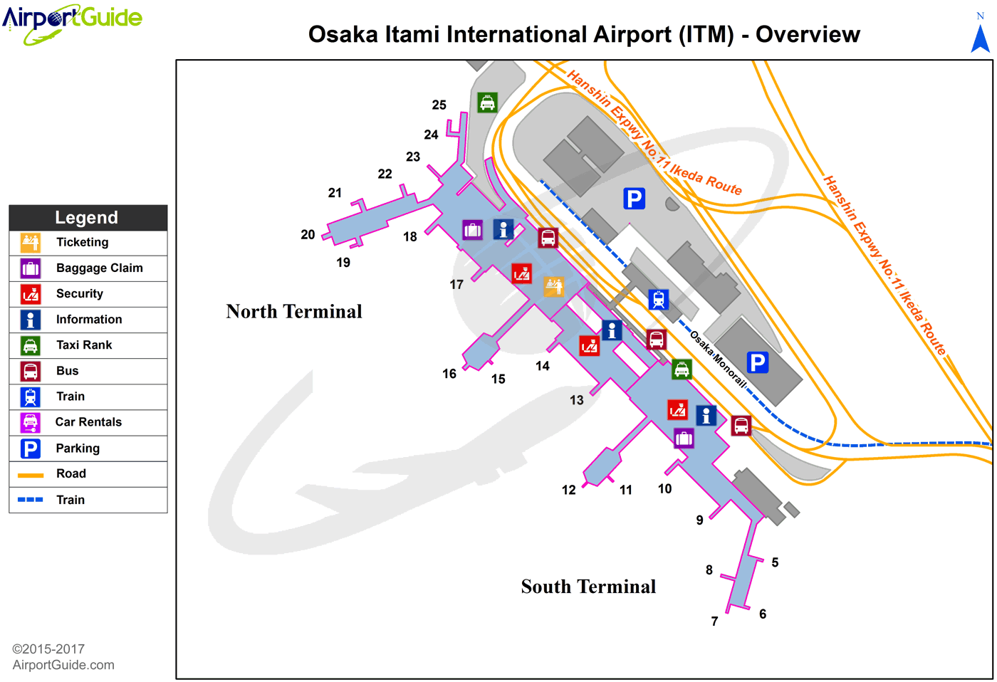 osaka itami airport map Osaka Osaka International Itm Airport Terminal Map Overview osaka itami airport map