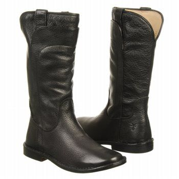 Frye Paige Tall Riding Pre/Gr Boots (Black) - Kids' Boots - 13.5 M