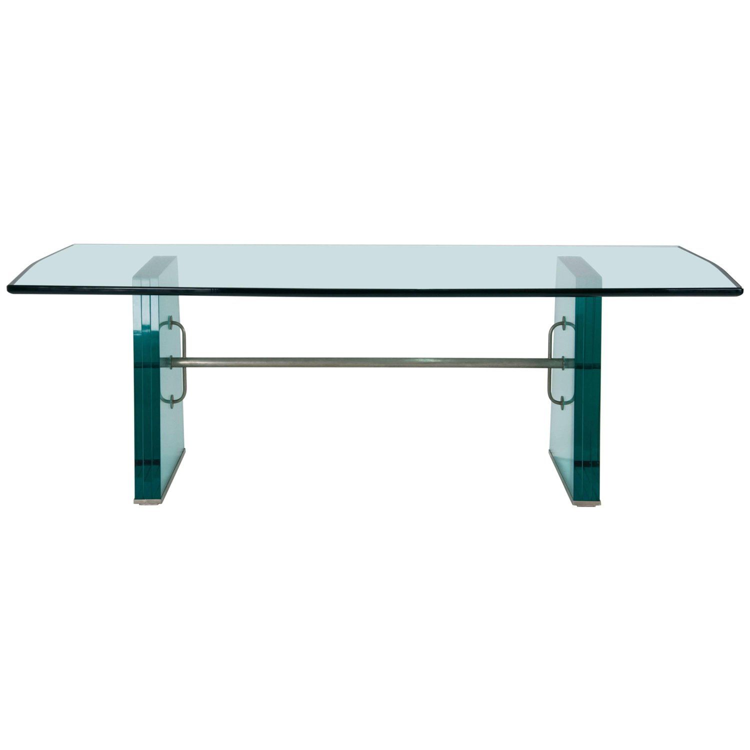 Pietro Chiesa Extraordinary Glass Dining Table For Fontana Arte 1934 Glass Dining Table Dining Table Design Modern Dining Room Tables [ 1500 x 1500 Pixel ]