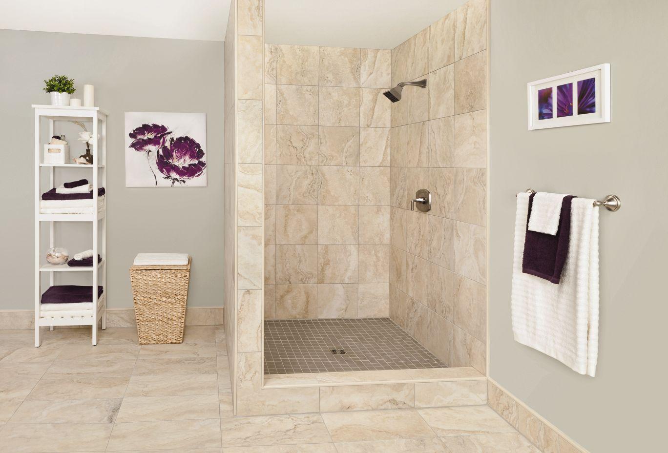 Kerdi Shower Kit Beige Tile Bathroom Bathroom Color Schemes