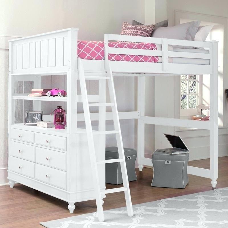 Full Low Loft Bed With Desk Girls Twin Full Loft Beds Desks