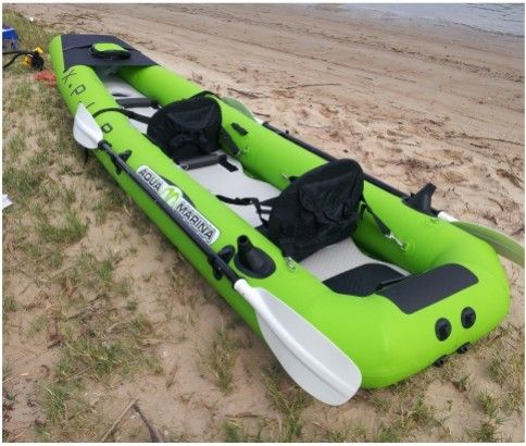 2 Person Inflatable Fishing Kayak With Trolling Motor Paddles