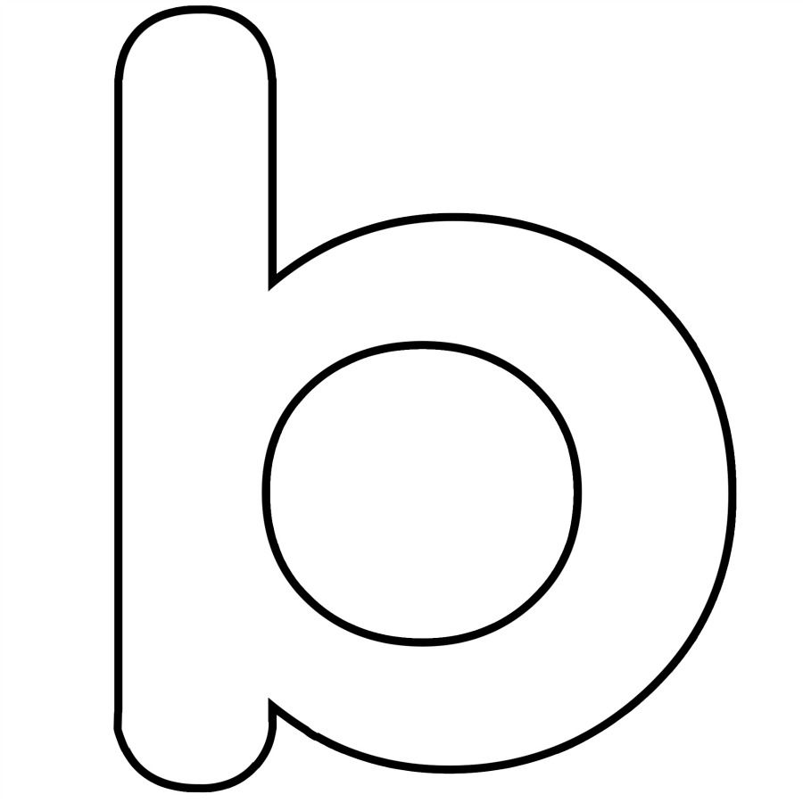 Letter B Coloring Pages Lower Case Alphabet Letter B Template And Letter B Song For Kids Alfabet Letters Geletterdheid Leren Lezen
