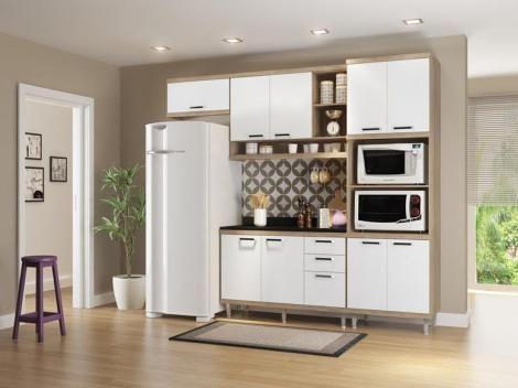 Cozinha Compacta Multimoveis Sicilia Com Balcao 9 Portas 3