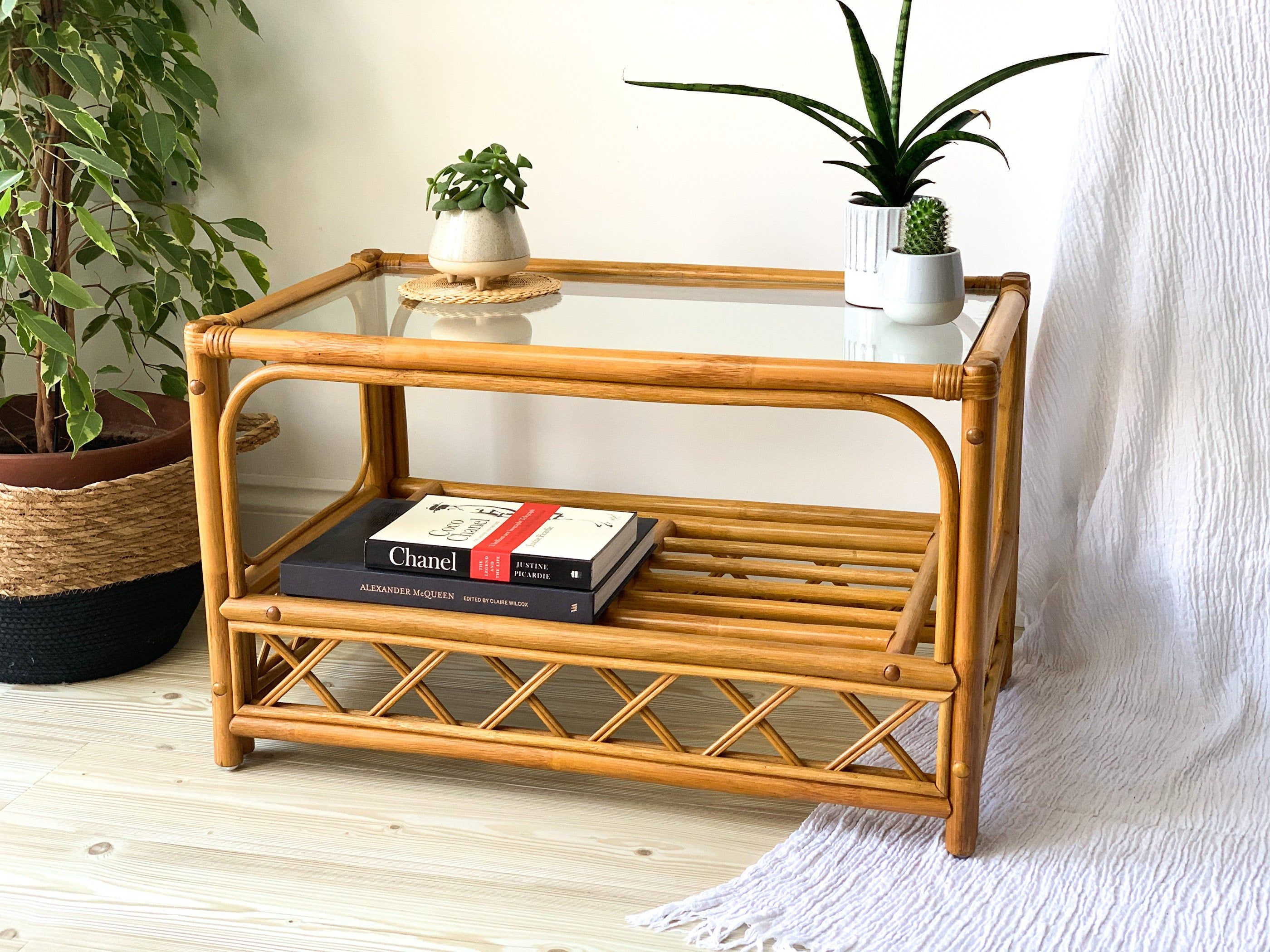 Vintage Bamboo Coffee Table Vintage Bamboo Table With Glass Top By Zebrahomeware On Etsy Bamboo Coffee Table Bamboo Table Coffee Table Vintage [ 2100 x 2800 Pixel ]