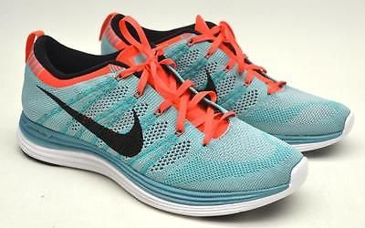 b76bd59f94ed ... cheap nike womens flyknit lunar 1 running shoes turquoise size 11 nwot  554888 300 flyknit 16a31