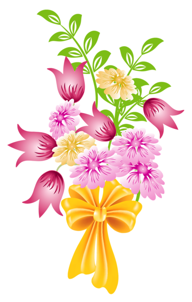 Spring Bouquet Png Clipart Flower Bouquet Drawing Flower Clipart Pretty Flower Art