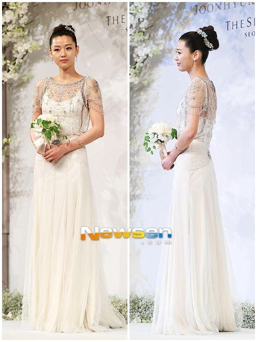 great korean actress with beautiful wedding dress