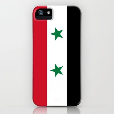 The Syrian national flag - (may PEACE prevail)  Syria iPhone & iPod Case