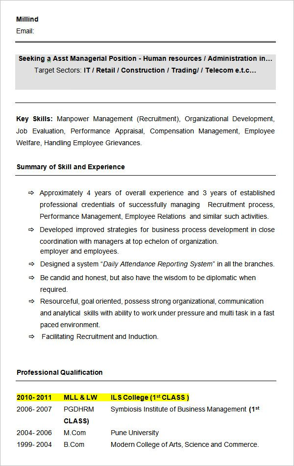 Plant Hr Manager Resume - Better opinion Money and Fun Pinterest