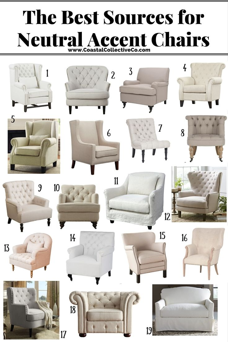 The Best Sources For Neutral Accent Chairs Living Room Chairs Comfy Accent Chairs For Living Room Living Room Chairs Types of living room chairs