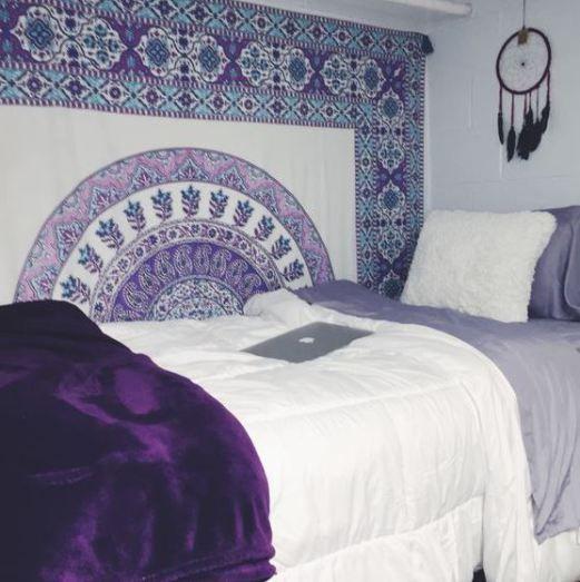 This Purple Dorm Bedding Creates Such A Cute Room