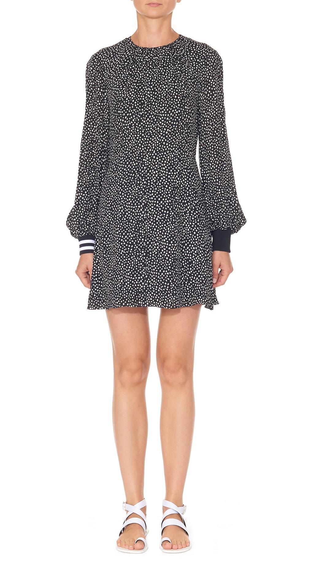 Martine shirred neck short dress by tibi products pinterest