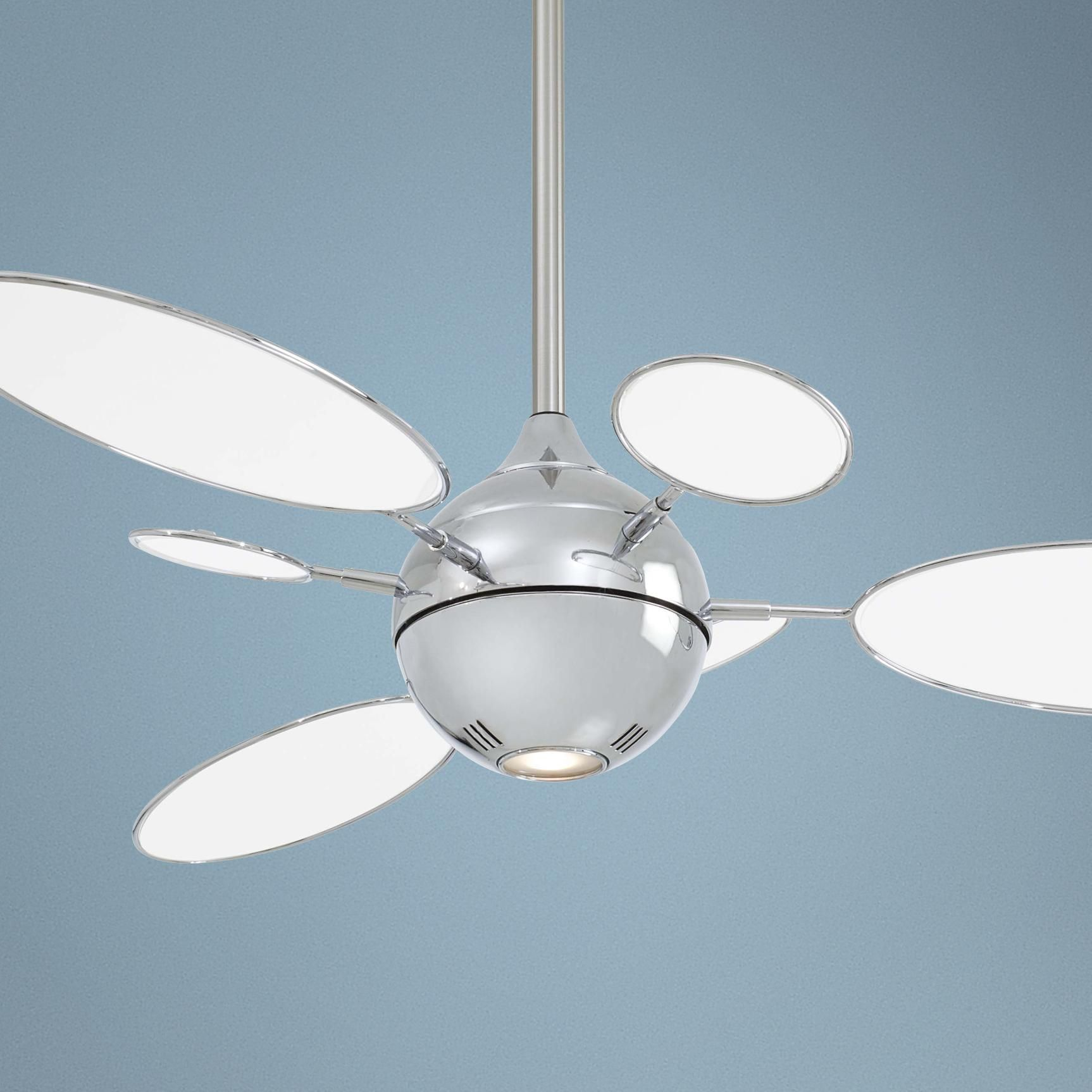 54 Minka Aire Cirque Polished Nickel Ceiling Fan With Images