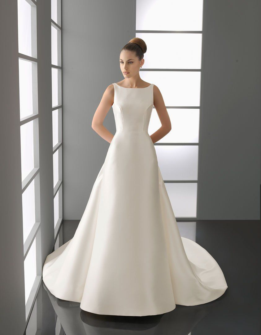 New bridal collection 2015 elegant white square neckline for Simple elegant short wedding dresses