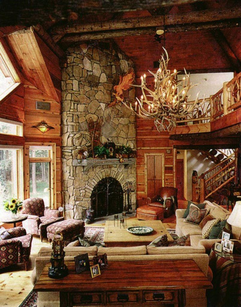 Interior Design Mountain Homes Cabin Design Ideas For Inspiration 40 ...
