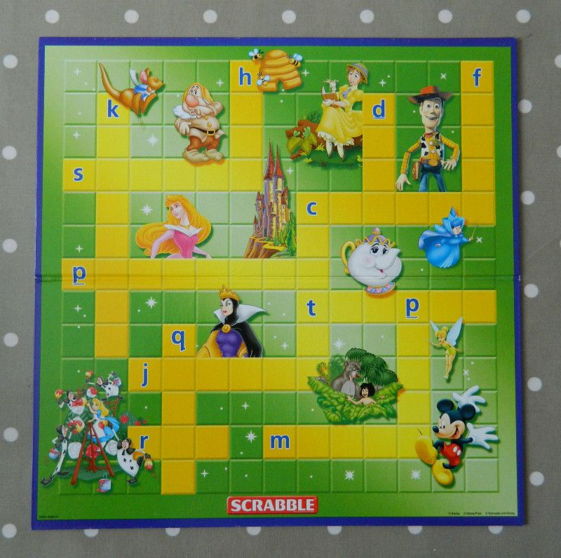 Junior Disney Scrabble Game BOARD ONLY, Spare Game Pieces, Wall Art ...