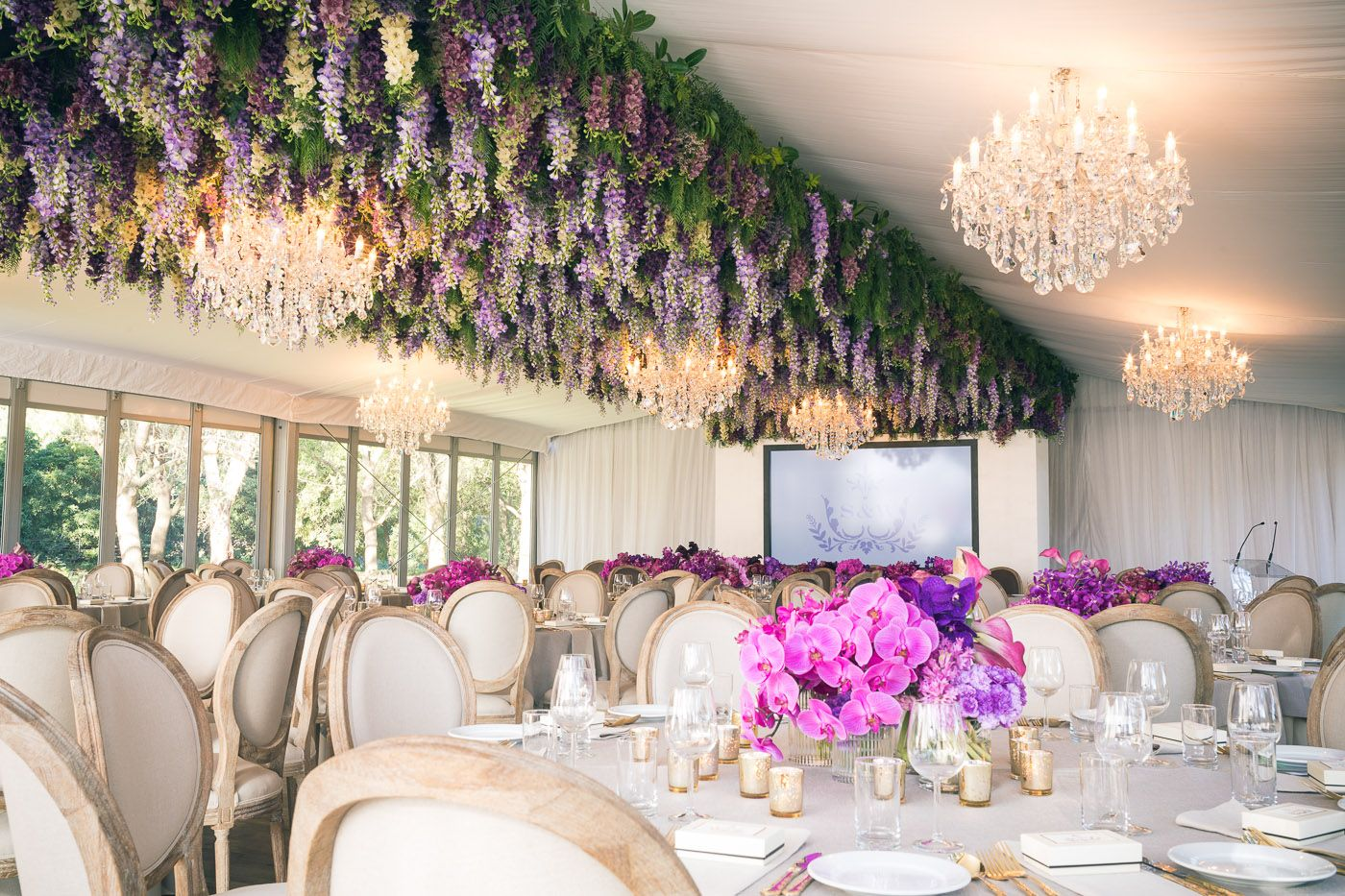 Hanging Fl Arrangement Wisteria