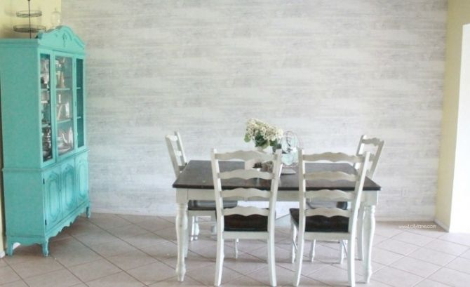 Faux Wood Wallpaper Walls Republic Review Farmhouse Dining RoomsPlanked