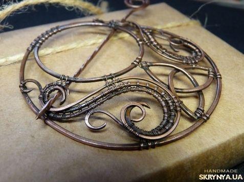 Брошь-фибула Трилистник   my wire wrapped jewelry   Pinterest ...