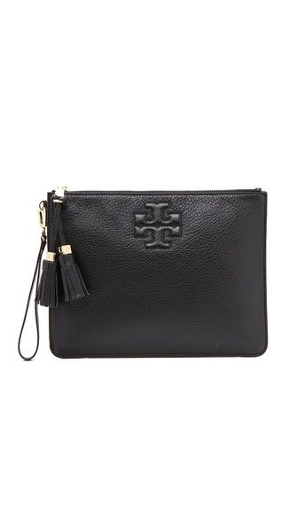36c14a3601 Thea Zip Pouch | Bugs | Leather pouch, Tory Burch, Pouch