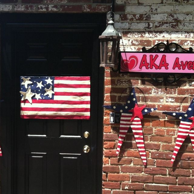 Memorial and 4th of July door decorations available at AKA
