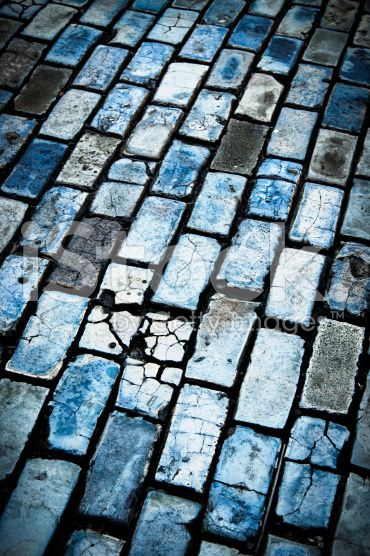 blue cobblestones royalty-free stock photo