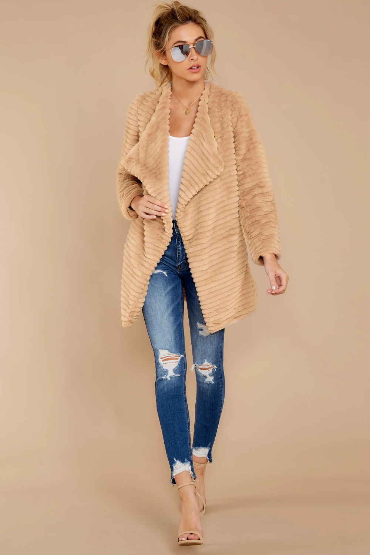 Bb Dakota Beige Jacket Vegan Fur Button Jacket Outerwear 130 00 Red Dress Tan Faux Fur Coat Faux Fur Coat Coat [ 1500 x 1000 Pixel ]